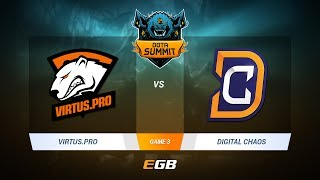 Virtus.Pro vs Digital Chaos, Game 3, DOTA Summit 7 LAN-Final, Day 4