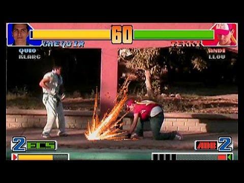 國外惡搞格鬥天王98真人版
