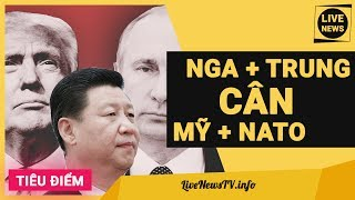 """NGA + TRUNG QUỐC ĐÒI """"CÂN ĐẸP"""" CẢ MỸ + NATO: SỨC MẠNH QUÂN SỰ NGA THỰC SỰ RA SAO?Subscribe để cập nhật tin mới nhất http://bit.ly/LiveNewsTVTham gia fanpage http://facebook.com/TVLiveNewsvấn đề đối cực Mỹ - Nga đang dần kéo theo nhiều nước liên quan như Trung Quốc, Triều Tiên, Hàn Quốc, Nhật Bản và các nước NATO, hình thành 2 thế lực đối cực lớn là Mỹ - NATO và Nga – Trung. Trong khi Mỹ và NATO có sức mạnh quân sự và kinh tế lâu đời cùng những căn cứ quân sự chiến lược rải khắp toàn cầu thì đối cực Nga – Trung lại không ngừng lớn mạnh. Nếu quân đội Nga phát triển vũ khí theo hướng phòng thủ toàn diện thì Trung Quốc với khả năng nhái hàng đã nhái thành công hầu hết các loại vũ khí tối tân có trên thế giới – chất lượng thì hên xui. Chúng ta cũng sẽ phân tích vì sao ông Putin luôn tự tin có thể """"cân hẳn"""" Mỹ và NATO trên bất cứ chiến trường nào.Cuộc tập trận Nga – Trung diễn ra ngay trong hoàn cảnh Mỹ đe dọa Triều Tiên và cảnh cáo Trung Quốc về vấn đề liên Triều nên vấp phải một sự phản đối lớn từ Mỹ và các nước NATO. Quân đội Nga và Trung Quốc công bố là họ đang chuẩn bị cho cuộc tập trận Hải quân chung """"Hợp tác biển -2017"""" (MV-2017), diễn ra vào cuối tháng 7 ở biển Baltic. Chủ đề chính của cuộc tập trận năm nay là thực hiện các hoạt động cứu hộ và hiệp đồng chiến đấu bảo đảm các hoạt động kinh tế trên biển."""