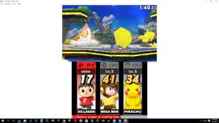 Smash 4 running on an emulator at 25% speed!