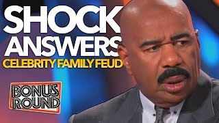 Video MOST SHOCKING Celebrity Family Feud Answers! STEVE HARVEY Can't Believe It! Bonus Round MP3, 3GP, MP4, WEBM, AVI, FLV September 2018