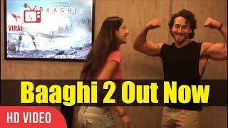 Tiger Shroff And Disha Patani Showing Their First Baaghi 2 Poster | Viralbollywood