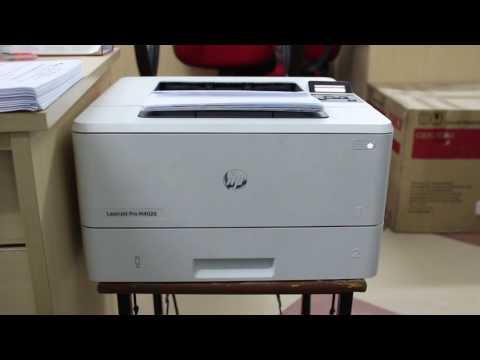 Demo khả năng chứa giấy và in liên tục của máy in HP M402dn