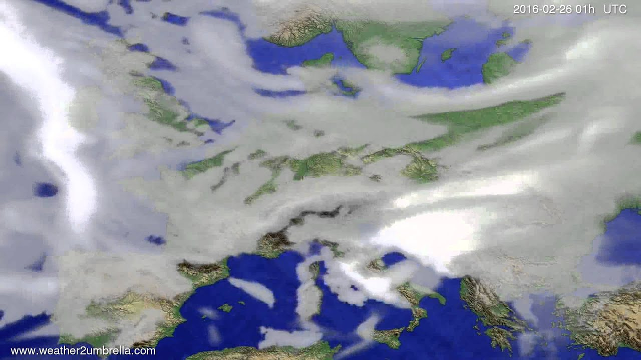 Cloud forecast Europe 2016-02-23
