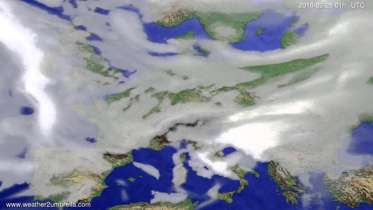 Cloud forecast Europe 2016-02-23