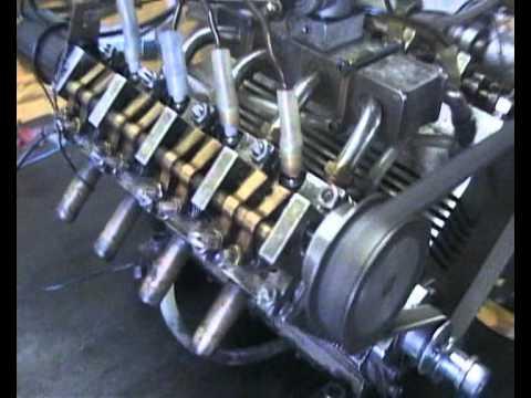 V8 motor model 50ccm