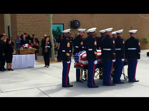 Gunny Ermey's funeral service