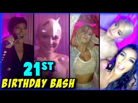 Kylie Jenner 21st Birthday Bash With Her Family   Party Videos Out