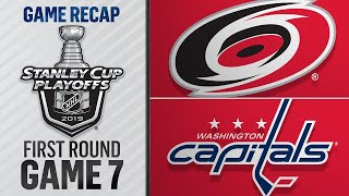 Hurricanes rally, top Capitals in 2OT in Game 7 by NHL
