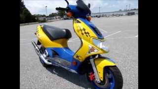10. 2007 Kymco Super 9  stock #9-0138 demo ride & walk around @ Diamond Motor Sports