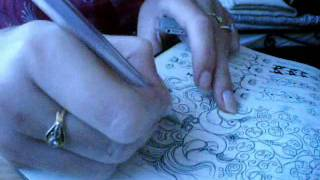 amelia's persian-indian design drawing - YouTube