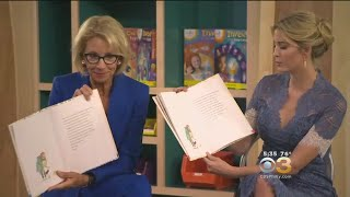 U.S. Secretary of Education Betsy DeVos and Adviser to the President Ivanka Trump read to youngsters at the Smithsonian.