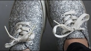 DIY: Glitter Shoes REVAMP YOUR OLD SHOES! - YouTube