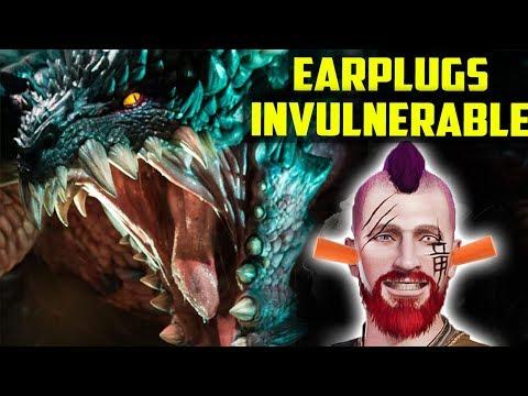 ARE YOU SICK OF ROARS? EPIC Earplugs + Invulnerability Armor Set Monster Hunter World