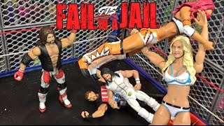 GTS WRESTLING FAIL IN A JAIL! WWE Elite Figure HELL IN A CELL PARODY PPV!