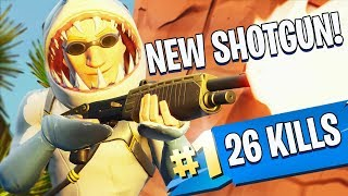 *NEW* PUMP SHOTGUN/ 26 KILLS on TEAM RUMBLE LTM!! - Fortnite Battle Royale
