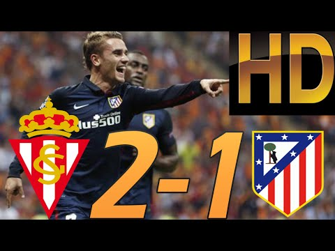 Sporting Gijón vs Atletico Madrid 2-1 All Goals & Hihglights 19-03-2016 HD