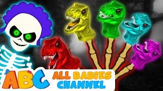 Skeleton Vs Dino Colors Skeleton Finger Family Collection | Finger Family | All Babies Channel