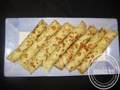 crêpe marocaine - Cuisine marocaine: Crêpes aux pommes1-Recette simple et facile/Crepes with Apple Website http://sousou-kitchen.com/?p=1831 English Blog: http://0z.fr/9ssZG S...