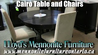Mennonite Cairo Kitchen Table and Chairs
