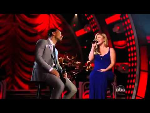 Duets - Kelly Clarkson and fellow mentor John Legend performed 
