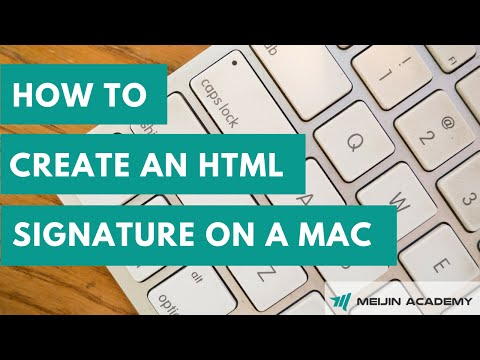 How to create HTML signature on a mac