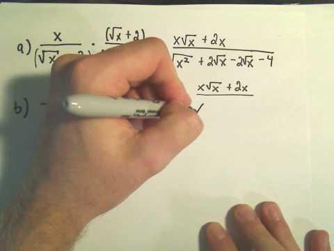 Rationalisierung der Nenner - Beispiel 2