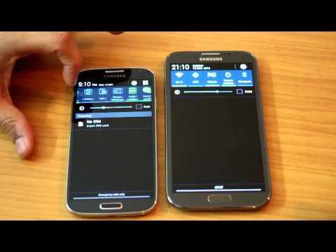 Samsung Galaxy S4 (i9500) vs Samsung Galaxy Note 2 (N7100) – comparison video