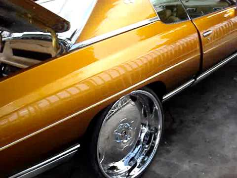 1971 CANDY GOLD CHEVY DONK ON 26