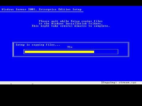 setup Windows Server 2003 Web Edition 1
