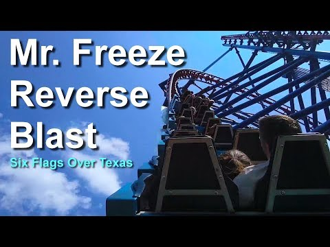 Video Six Flags Over Texas Mr Freeze Reverse Blast Roller Coaster On Ride HD POV download in MP3, 3GP, MP4, WEBM, AVI, FLV January 2017