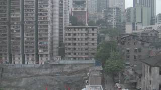 China Chongqing Yangtze River Cable Car inside video.