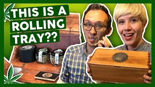INSANE Collapsable Rolling Tray! (+Joint Rolling Machine) by That High Couple