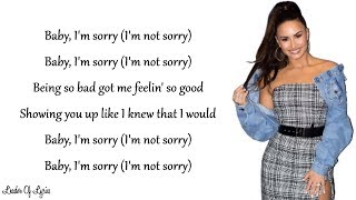 Video Demi Lovato - SORRY NOT SORRY (Lyrics) MP3, 3GP, MP4, WEBM, AVI, FLV Juni 2018