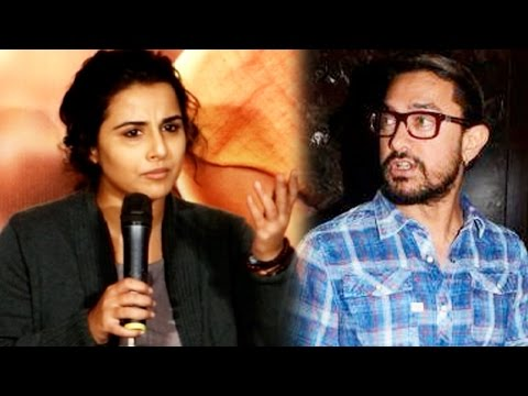 Vidya Balan Reacts On The FEMALE Aamir Khan Tag