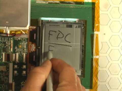 Una pantalla táctil y flexible de tinta electrónica