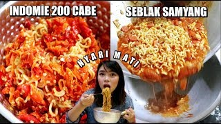 Download Video NYARI MATI! Indomie 200 CABE + Seblak Samyang MP3 3GP MP4