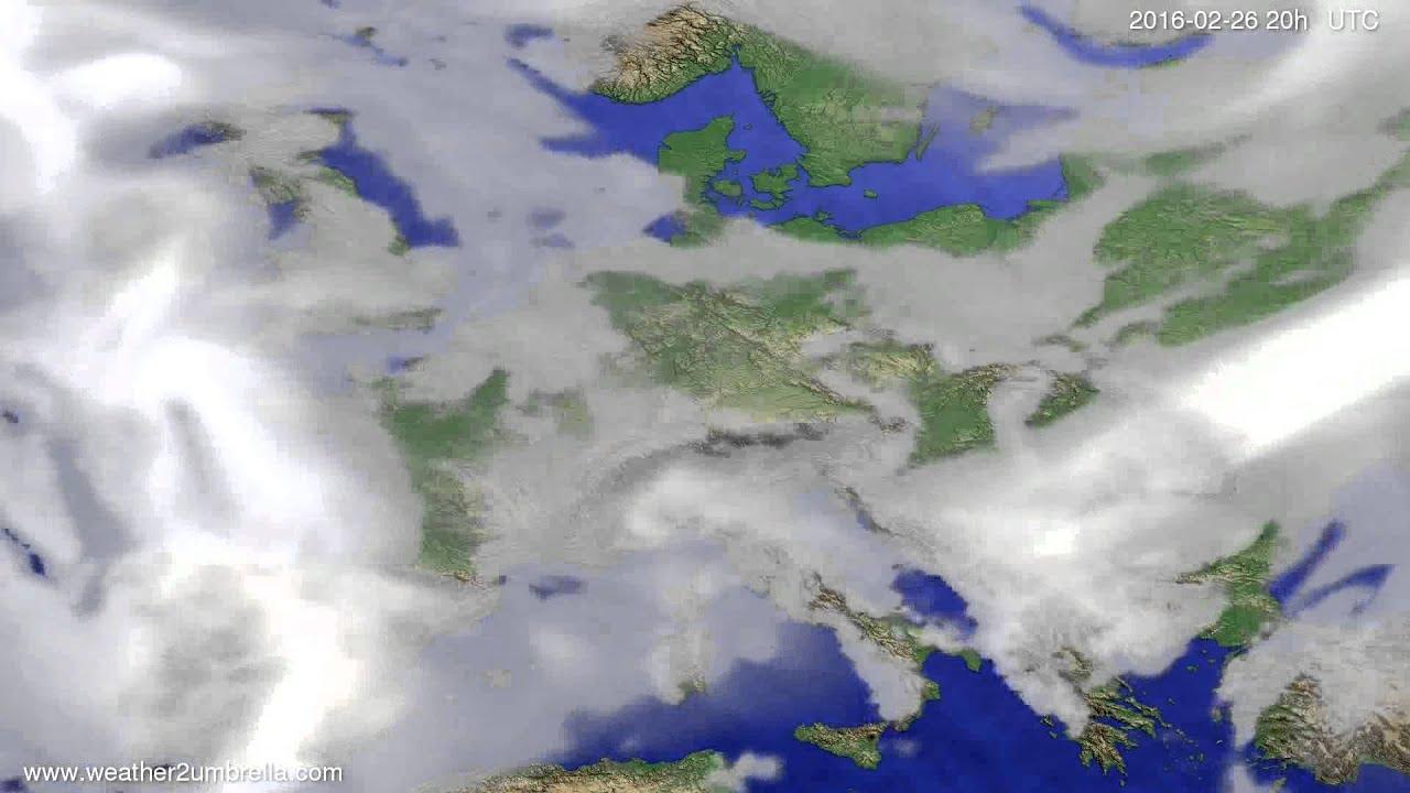 Cloud forecast Europe 2016-02-24