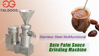 Industrial sauce making machine date paste grinding machine youtube video