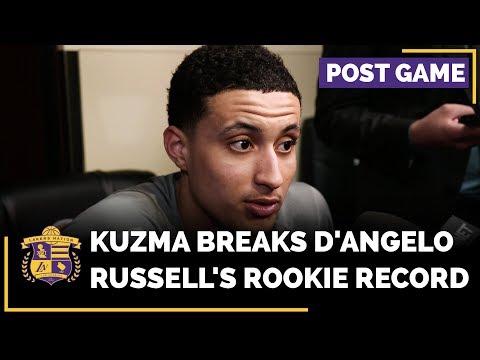Video: Kyle Kuzma Breaks D'Angelo Russell's Rookie Record