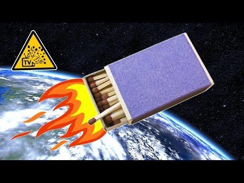 Как сделать ракету из спичек и бумаги