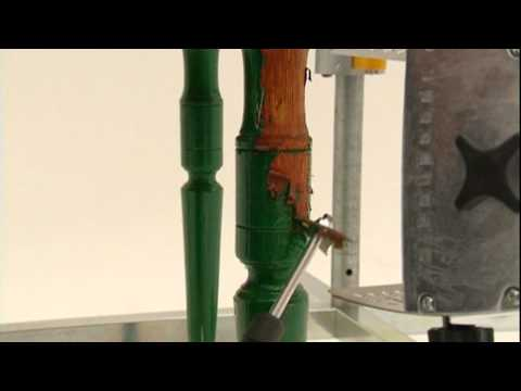 Speedheater System - Entfernung von Lack an Möbeln