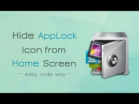 How to Hide & Unhide Applock from Homescreen Hindi/Urdu