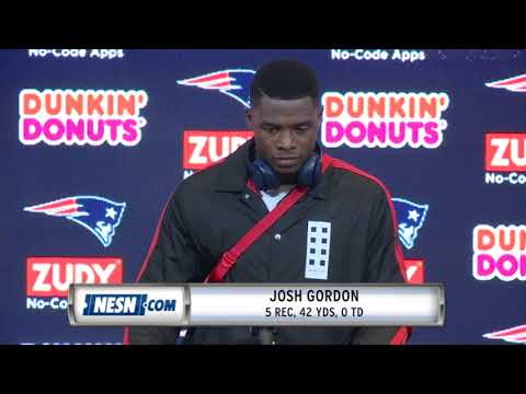 Video: Josh Gordon Patriots vs. Chiefs Week 6 Postgame Press Conference