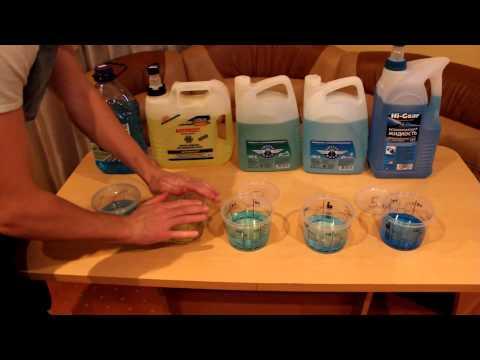 Сравнение незамерзающих жидкостей
