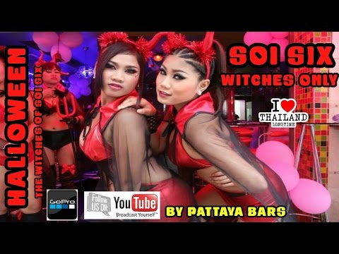 "SOI 6 ""HALLOWEEN 2014"" Pattaya Thailand Oct 31st ""The Witches Of Soi Six"""