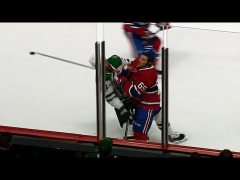 Video: Shaw helped off ice after head-to-head hit with Pateryn