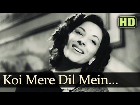 Video Koi Mere Dil Mein - Andaz - Nargis - Lata Mangeshkar - Dilip Kumar - Old Hindi Songs download in MP3, 3GP, MP4, WEBM, AVI, FLV January 2017