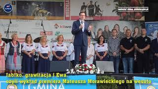 Premier Mateusz Morawiecki i wykład o Ewie, grawitacji i… trzebnickich jabłkach