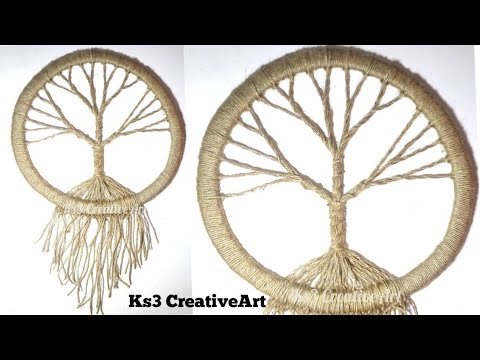 DIY Vintage Tree Dream Catcher| Room Decoration Ideas | Jute Craft | Easy Craft